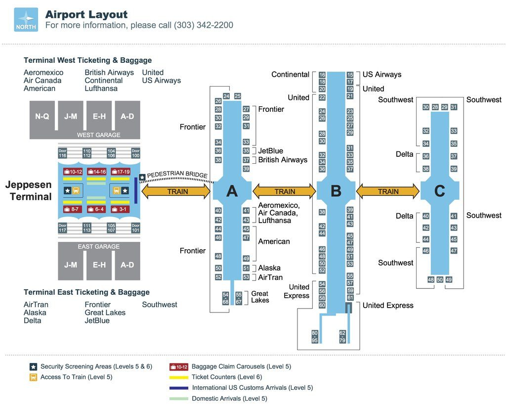 Denver Airport Map